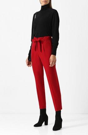 Шерстяные брюки с поясом Windsor красные | Фото №1