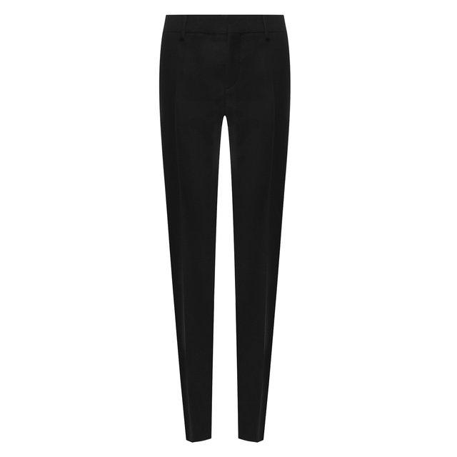 Шерстяные брюки-скинни со стрелками Saint Laurent
