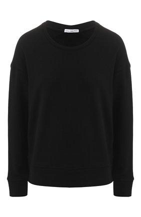 Хлопковый пуловер с круглым вырезом | Фото №1