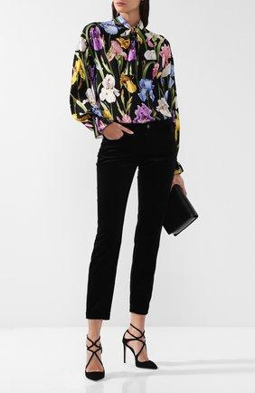 Укороченные хлопковые брюки Dolce & Gabbana черные   Фото №1