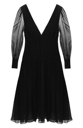 Шелковое платье с V-образным вырезом | Фото №1