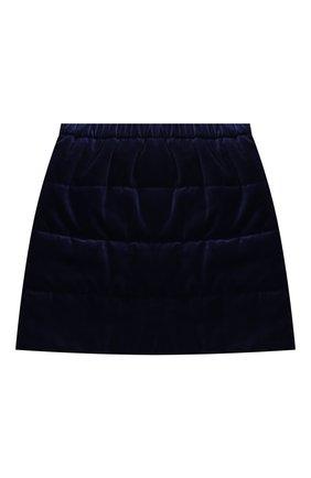 Бархатная мини-юбка | Фото №1