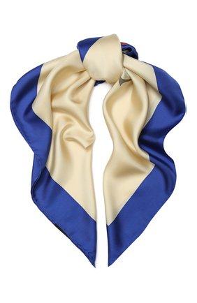 Шелковый платок с логотипом бренда | Фото №1