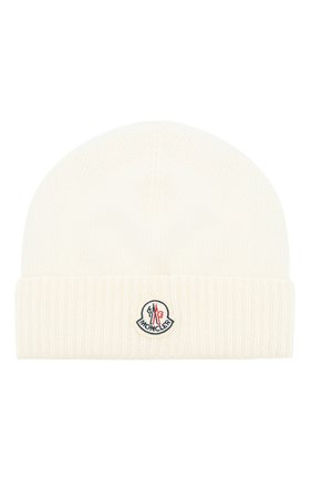 Мужская шерстяная шапка с логотипом бренда MONCLER белого цвета, арт. D2-091-00294-00-09912 | Фото 1
