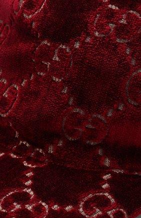 Бархатная кепка GG Gucci бордового цвета   Фото №3