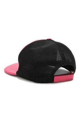 Кожаная кепка с перфорацией и логотипом бренда   Фото №2