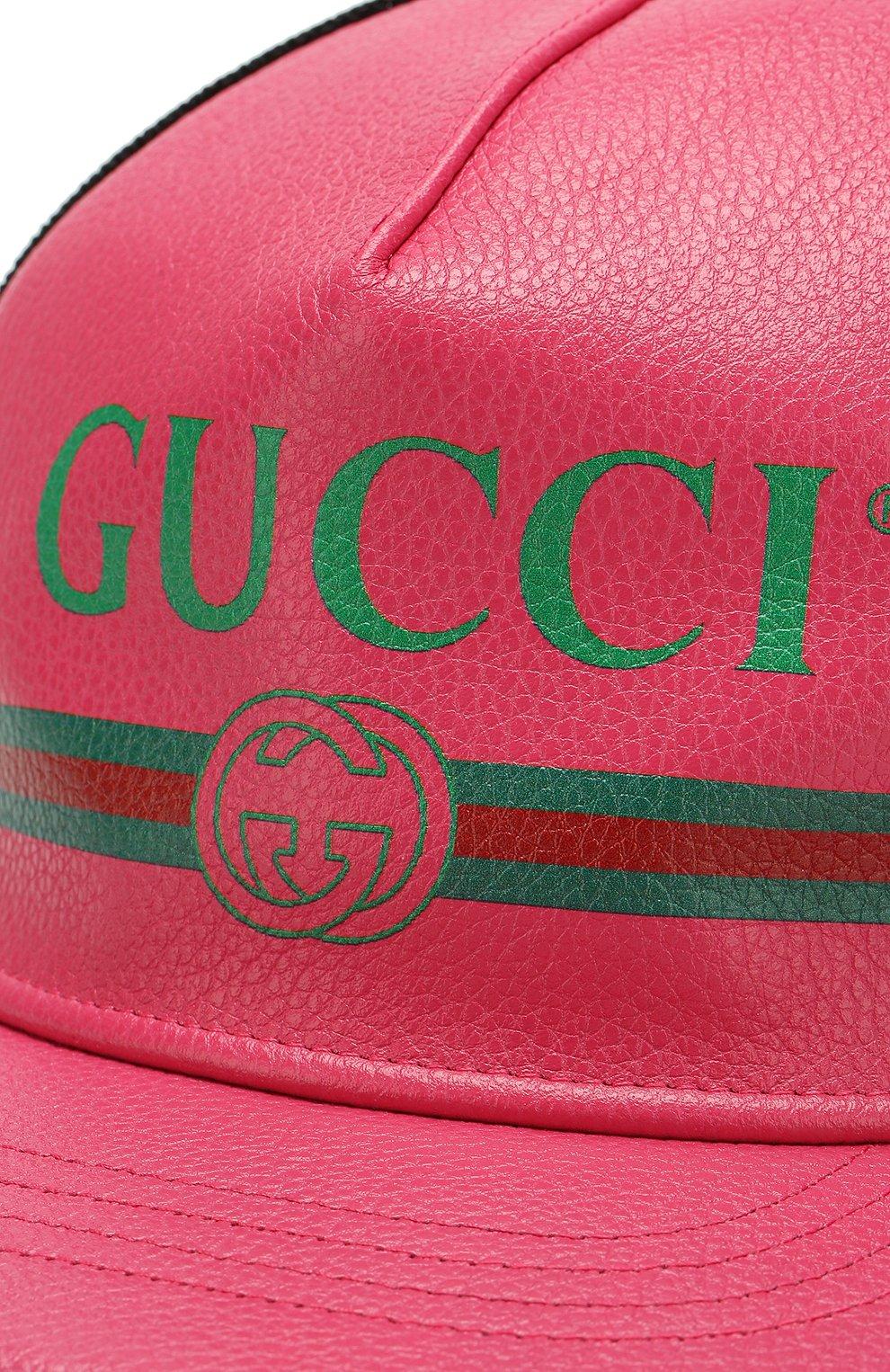 Кожаная кепка с перфорацией и логотипом бренда   Фото №3