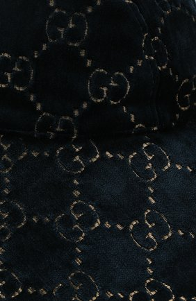 Вельветовая шляпа GG Gucci темно-синего цвета   Фото №3