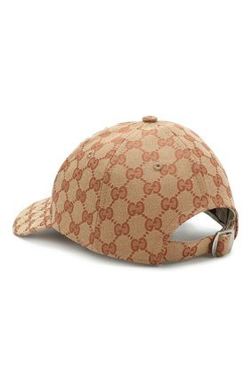 Текстильная кепка GG Supreme Gucci коричневого цвета | Фото №2