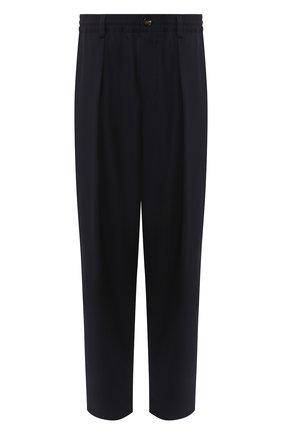 Мужской шерстяные брюки MARNI темно-синего цвета, арт. PUMU0017A0/S45455   Фото 1