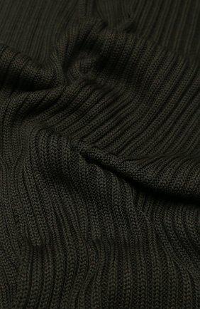 Шерстяной шарф фактурной вязки C.P. Company черный | Фото №1