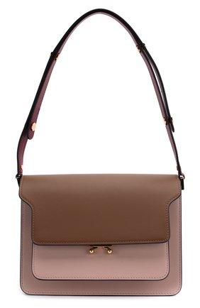 Женская сумка trunk MARNI темно-бежевого цвета, арт. SBMPN09N03/LV583 | Фото 1