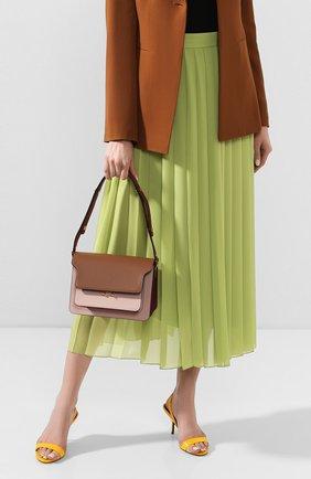 Женская сумка trunk MARNI темно-бежевого цвета, арт. SBMPN09N03/LV583 | Фото 2