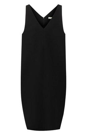 Однотонное платье с V-образным вырезом | Фото №1