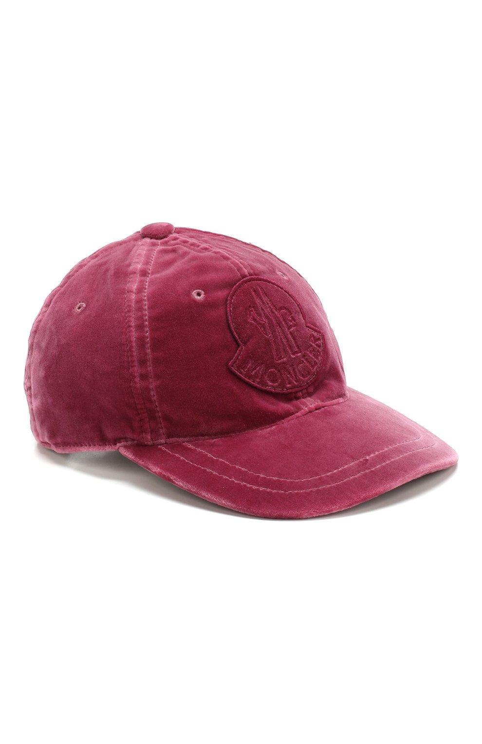 Вельветовая кепка с логотипом бренда   Фото №1