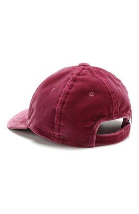 Вельветовая кепка с логотипом бренда Moncler розового цвета   Фото №2