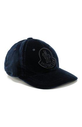 Вельветовая кепка с логотипом бренда | Фото №1