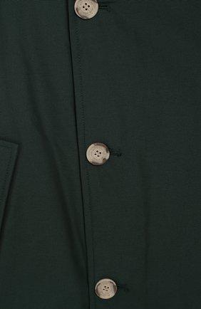 Детский парка с меховой отделкой на капюшоне WOOLRICH темно-зеленого цвета, арт. WKCPS2028/CN03/8-16 | Фото 3