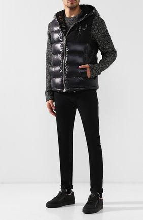 Текстильные кеды Frankie с внутренней меховой отделкой Giuseppe Zanotti Design черные | Фото №1