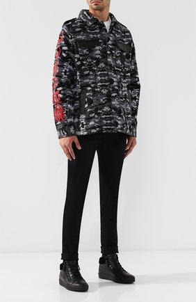 Высокие кожаные кеды Kriss Winter на шнуровке с внутренней меховой отделкой Giuseppe Zanotti Design черные | Фото №1