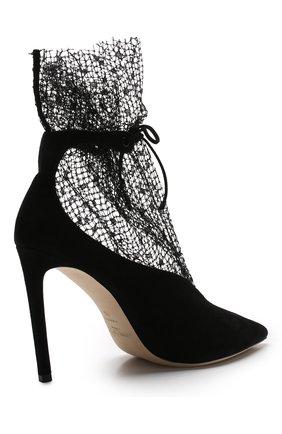 Замшевые туфли Leanne 100 на шпильке Jimmy Choo черные   Фото №4