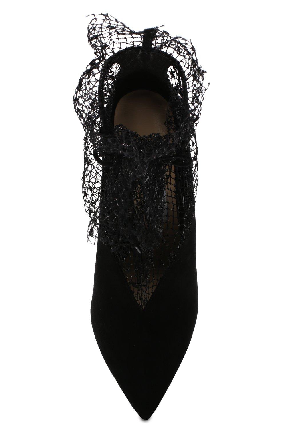 Замшевые туфли Leanne 100 на шпильке Jimmy Choo черные   Фото №5