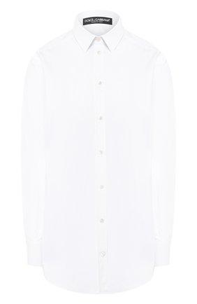 Женская однотонная хлопковая блуза Dolce & Gabbana, цвет белый, арт. F5I98T/FUEAJ в ЦУМ   Фото №1