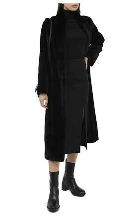 Женская шуба из меха норки YVES SALOMON черного цвета, арт. 7WYM75720VLVR/BLACK | Фото 2