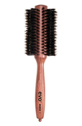 Круглая щетка с натуральной щетиной для волос Bruce 28мм | Фото №1
