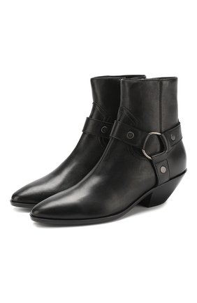 Кожаные ботинки West на устойчивом каблуке