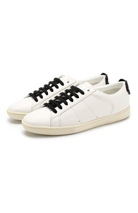 Кожаные кеды Court Classic на шнуровке | Фото №1