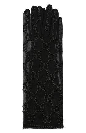 Женские перчатки из тюля GUCCI черного цвета, арт. 539645/3SB32 | Фото 1 (Материал: Текстиль, Синтетический материал; Статус проверки: Проверена категория)