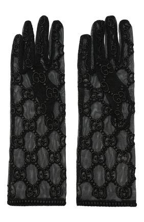 Женские перчатки из тюля GUCCI черного цвета, арт. 539645/3SB32 | Фото 2 (Материал: Текстиль, Синтетический материал; Статус проверки: Проверена категория)