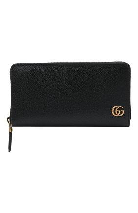 Кожаное портмоне GG Marmont на молнии | Фото №1