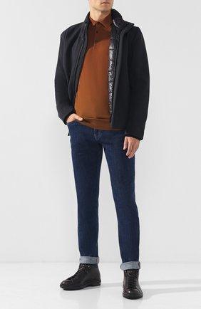 Мужское шерстяное поло с длинными рукавами ERMENEGILDO ZEGNA светло-коричневого цвета, арт. URM00/132 | Фото 2