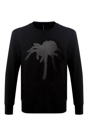 Хлопковый свитшот с принтом BLACKBARRETT черный | Фото №1