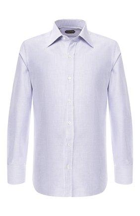 Мужская хлопковая сорочка с воротником кент TOM FORD синего цвета, арт. 4FT612/94S1JE | Фото 1