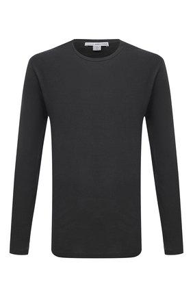 Мужская хлопковый лонгслив JAMES PERSE серого цвета, арт. MLJ3351 | Фото 1