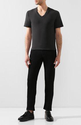 Мужская хлопковая футболка JAMES PERSE серого цвета, арт. MLJ3352 | Фото 2
