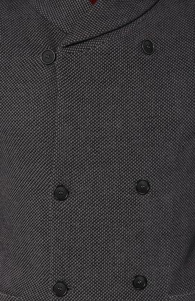 Мужской пиджак из смеси хлопка и вискозы GIORGIO ARMANI серого цвета, арт. 6ZSG54/SJFFZ   Фото 5 (Рукава: Длинные; Случай: Повседневный; Длина (для топов): Стандартные; Материал внешний: Хлопок; Пиджаки М: Приталенный; Стили: Кэжуэл)
