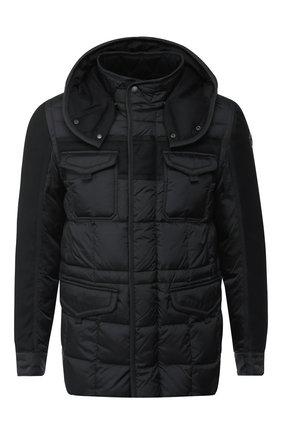 Мужская пуховая куртка jacob на молнии с капюшоном MONCLER черного цвета, арт. D2-091-41395-85-53227   Фото 1
