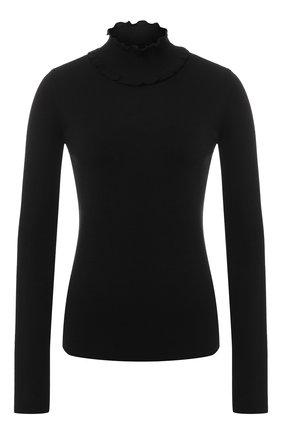 Пуловер из смеси шерсти и кашемира с воротником-стойкой   Фото №1