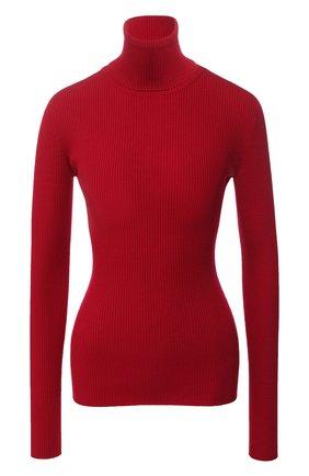 Однотонная шерстяная водолазка Dolce & Gabbana красная   Фото №1