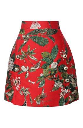 Мини-юбка с вышитым принтом Dolce & Gabbana разноцветная   Фото №1