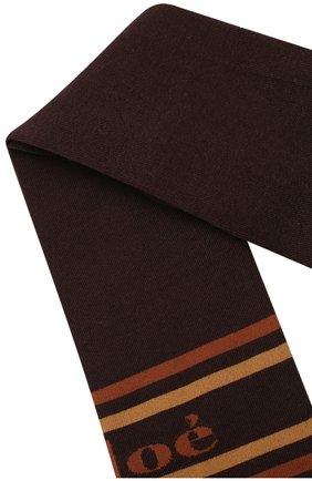 Женские хлопковые чулки с логотипом бренда CHLOÉ коричневого цвета, арт. CHC18WCU01910 | Фото 2