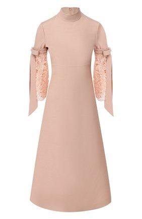 Платье-миди из смеси шерсти и шелка | Фото №1