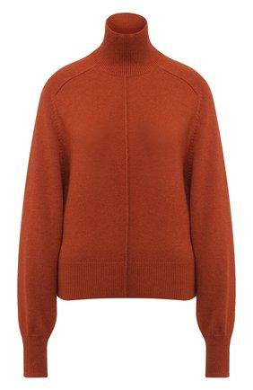 Кашемировый пуловер с высоким воротником Chloé светло-коричневый   Фото №1