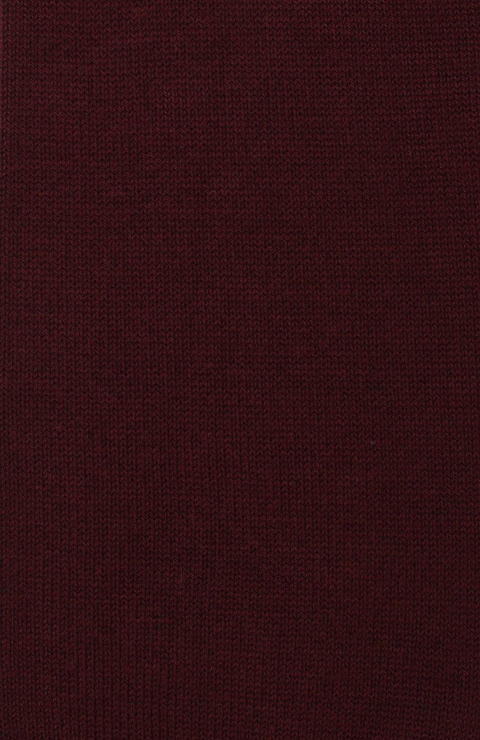Детские хлопковые гольфы LA PERLA бордового цвета, арт. 42516H/9-12 | Фото 2
