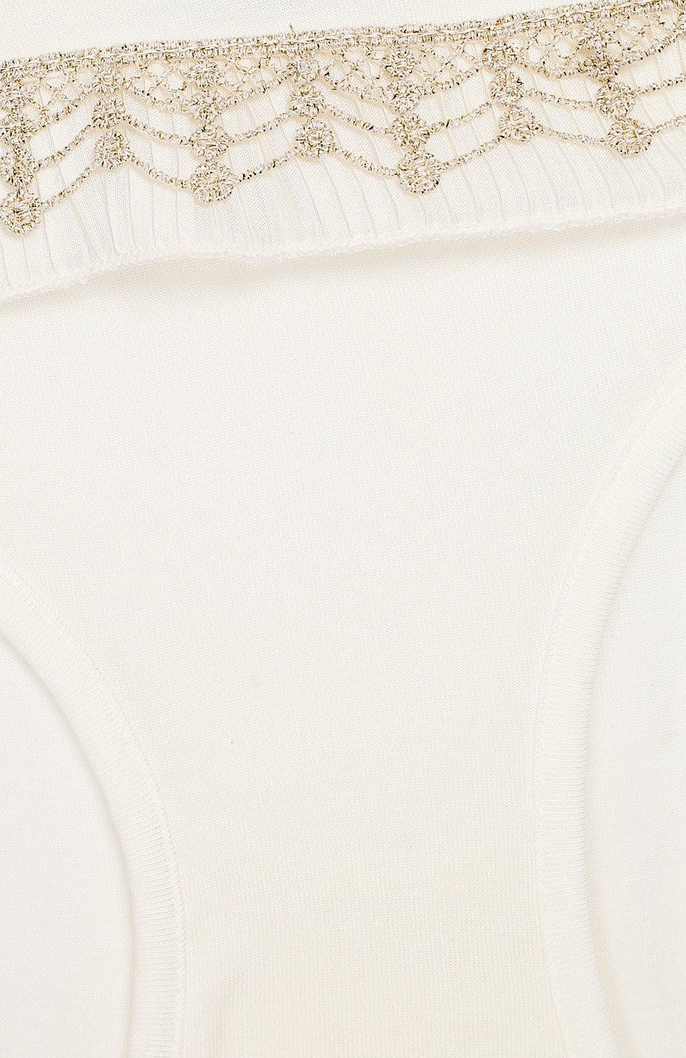 Детские трусы-слипы из вискозы LA PERLA бежевого цвета, арт. 54837/8A-14A | Фото 3