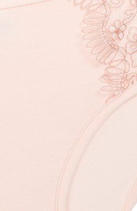 Детские хлопковые трусы-слипы с отделкой LA PERLA розового цвета, арт. 54927/2A-6A | Фото 3